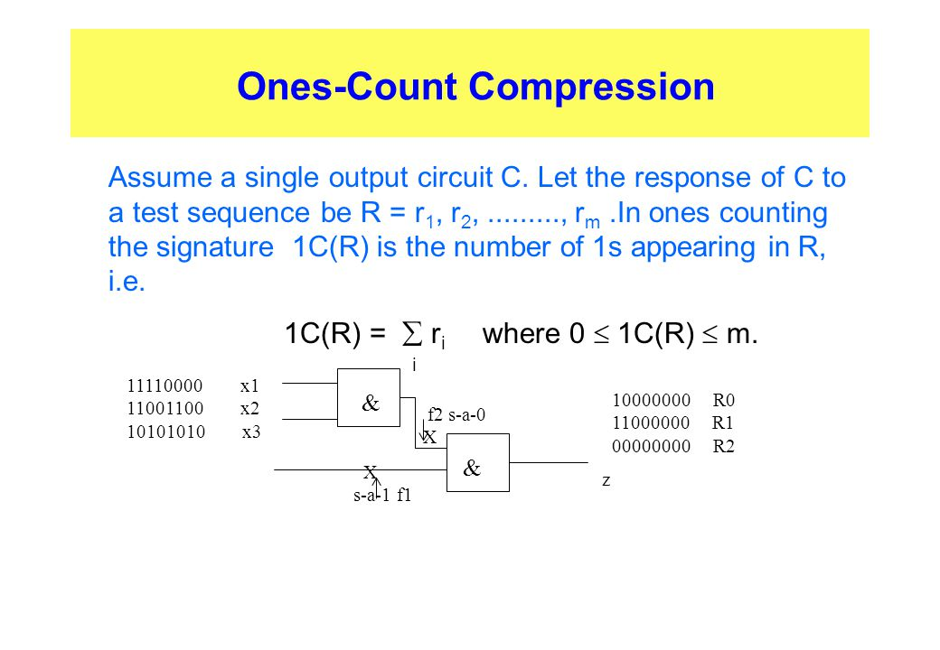 Ones-Count Compression