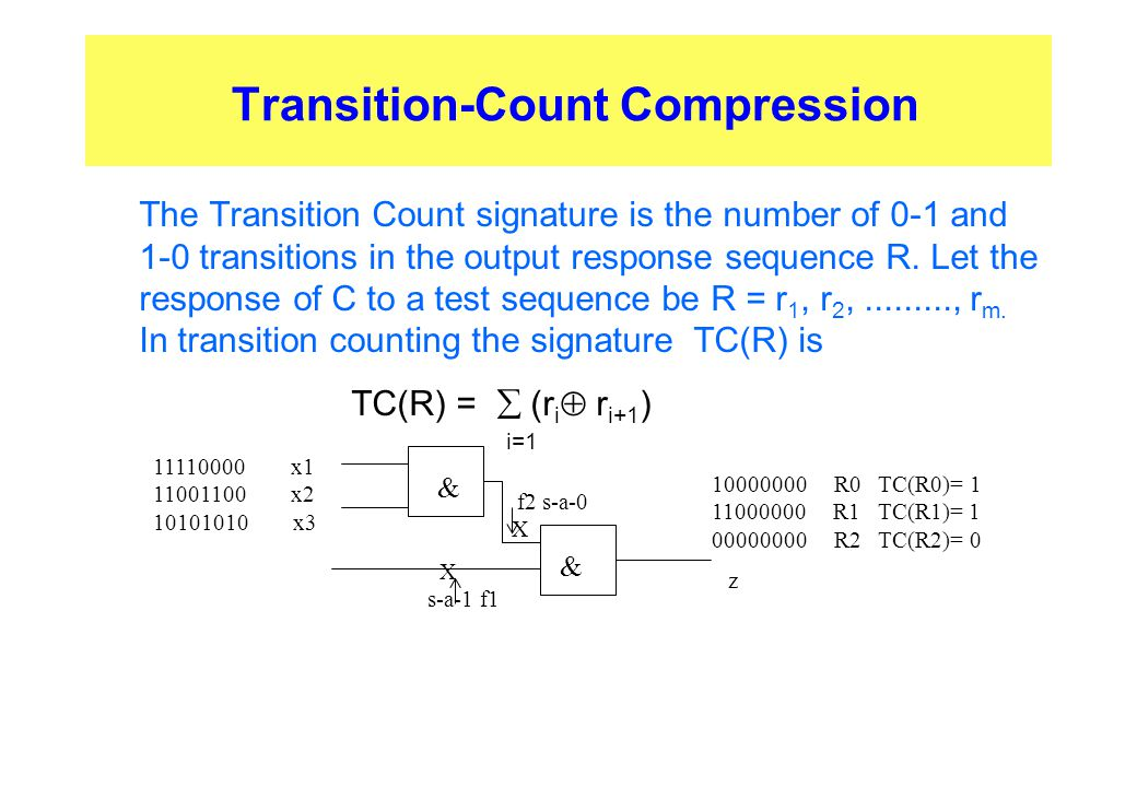 Transition-Count Compression