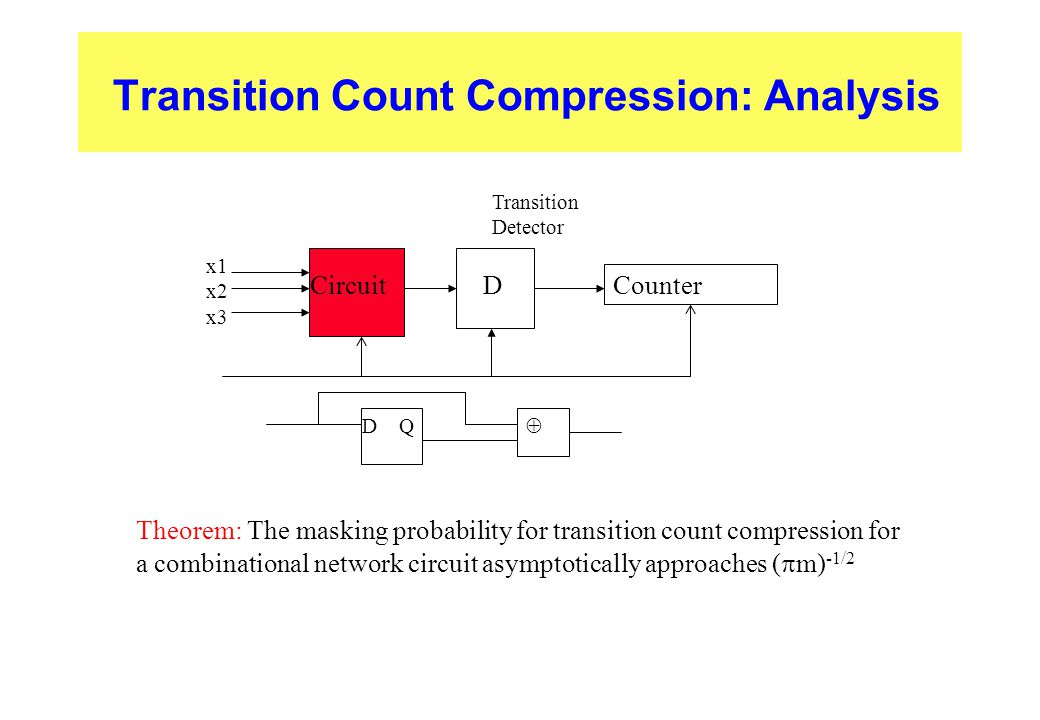 Transition Count Compression: Analysis