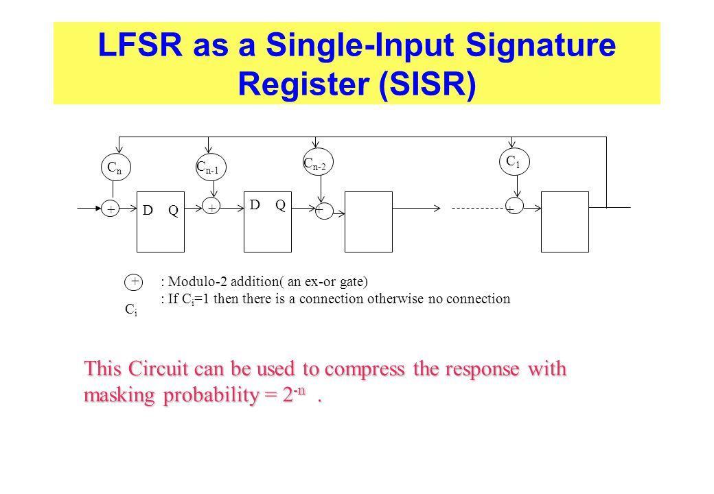 LFSR as a Single-Input Signature Register (SISR)