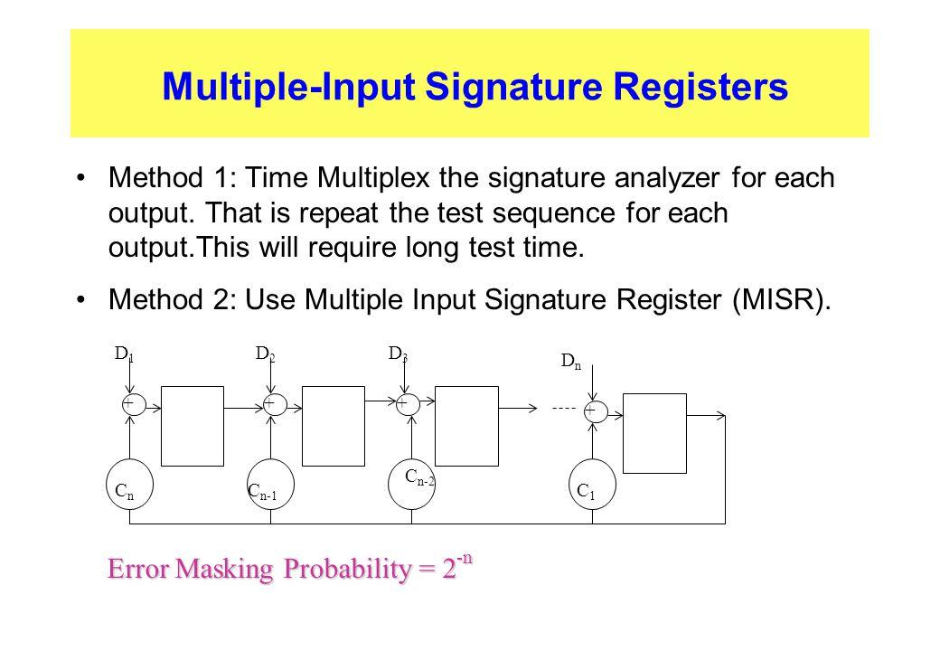 Multiple-Input Signature Registers