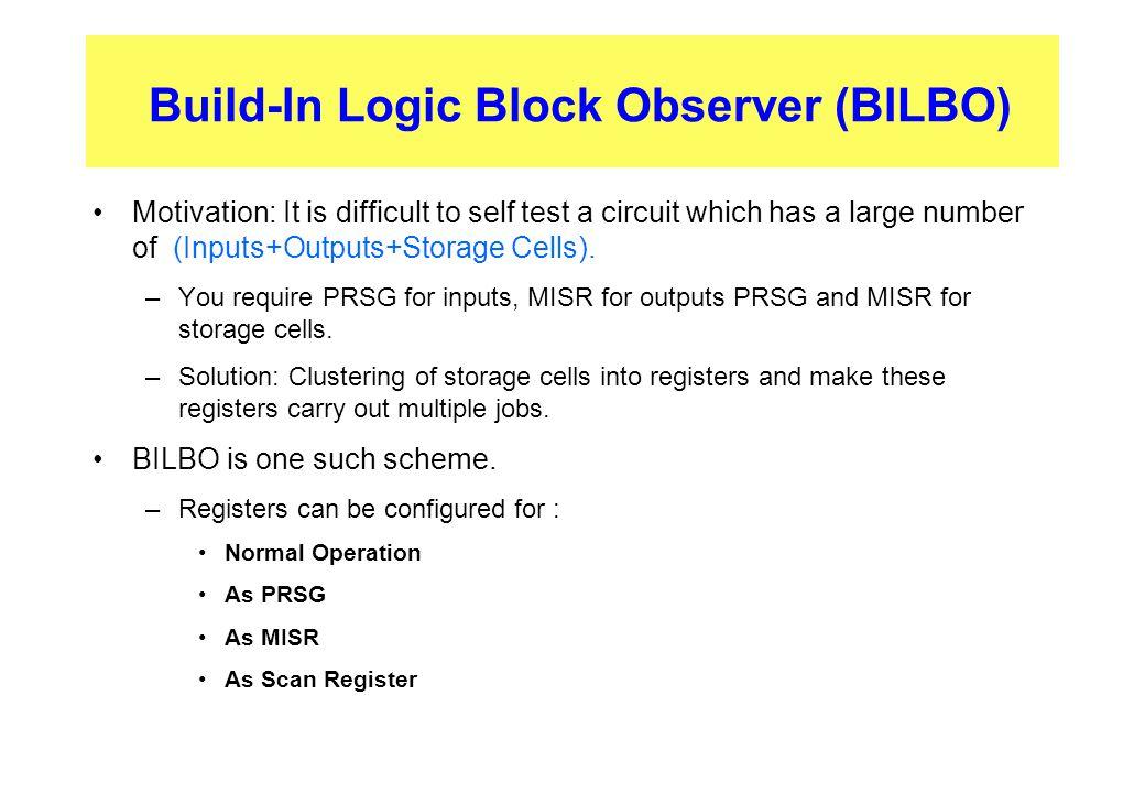 Build-In Logic Block Observer (BILBO)