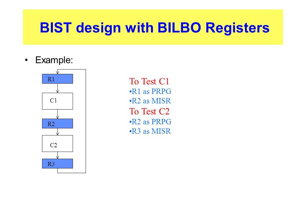 BIST design with BILBO Registers