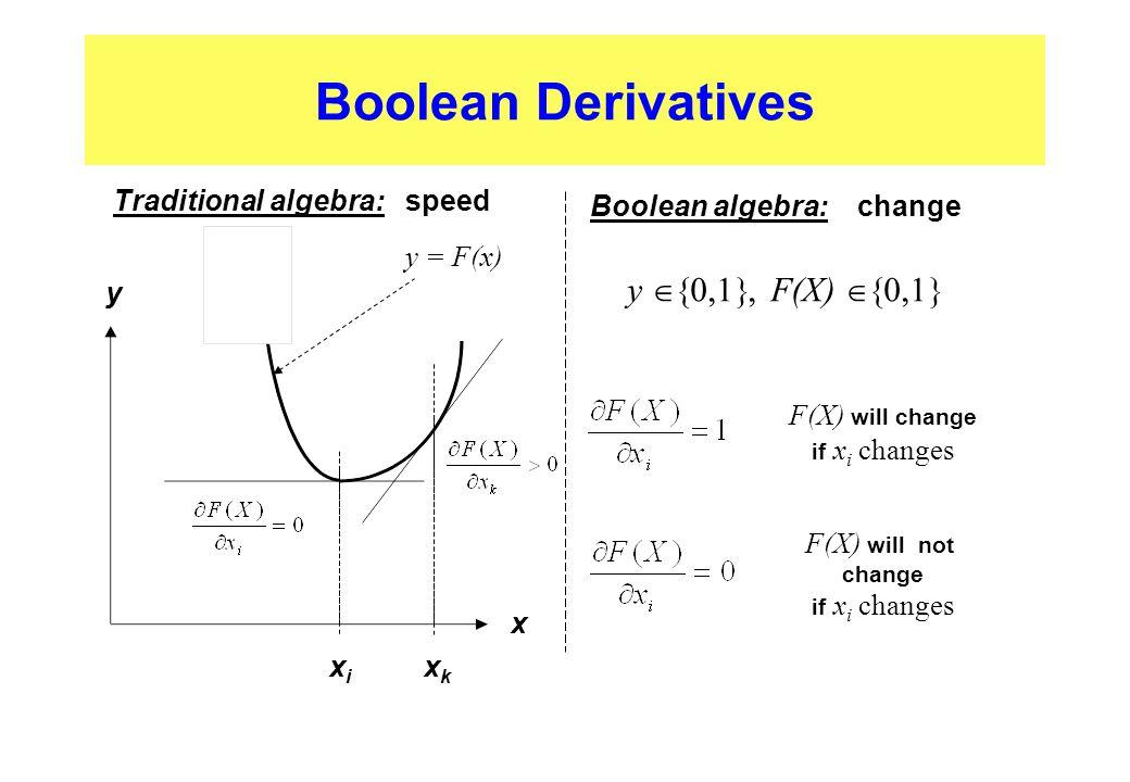 Traditional algebra: speed Boolean algebra: change