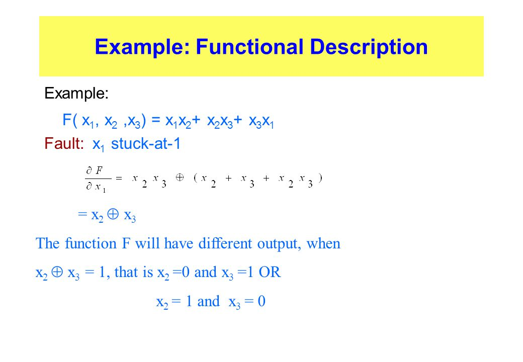 Example: Functional Description