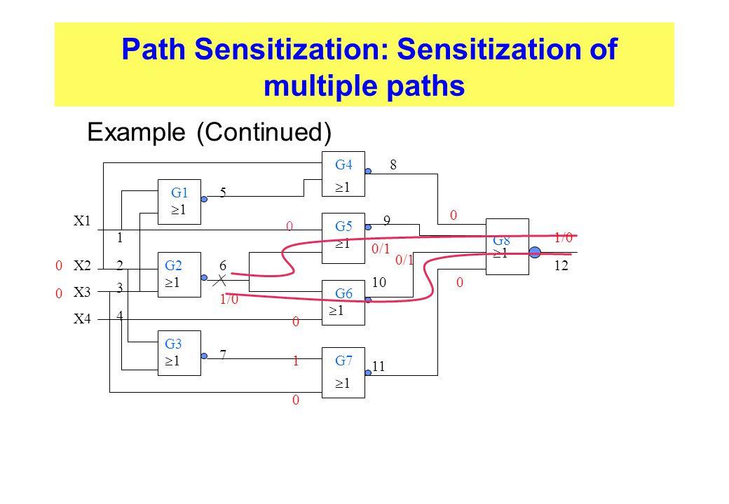 Path Sensitization: Sensitization of multiple paths