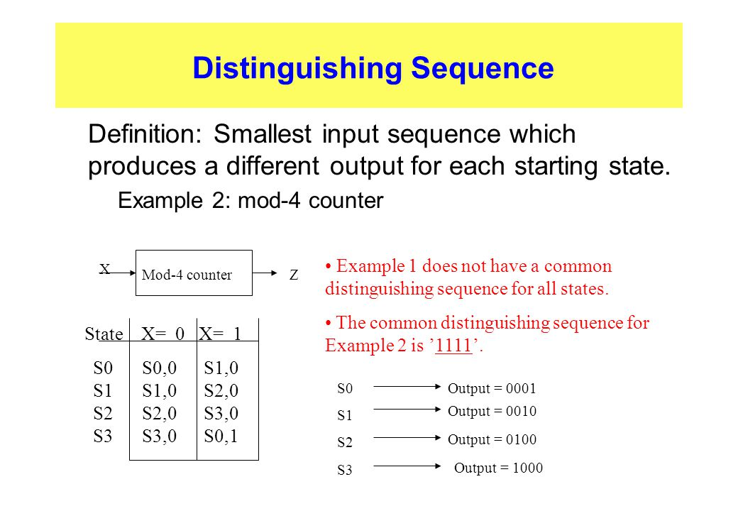 Distinguishing Sequence