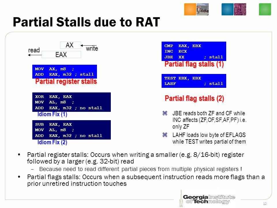 Partial Stalls due to RAT