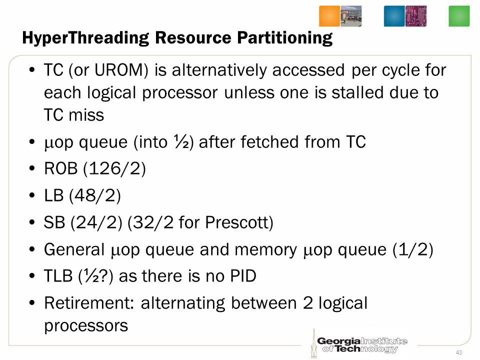 HyperThreading Resource Partitioning