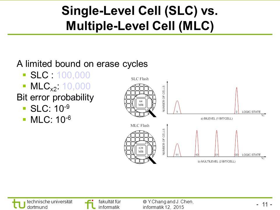Single-Level Cell (SLC) vs. Multiple-Level Cell (MLC)