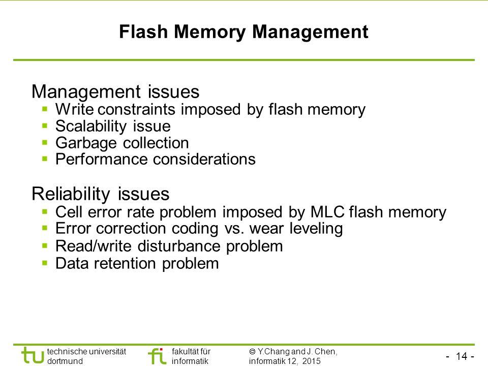 Flash Memory Management