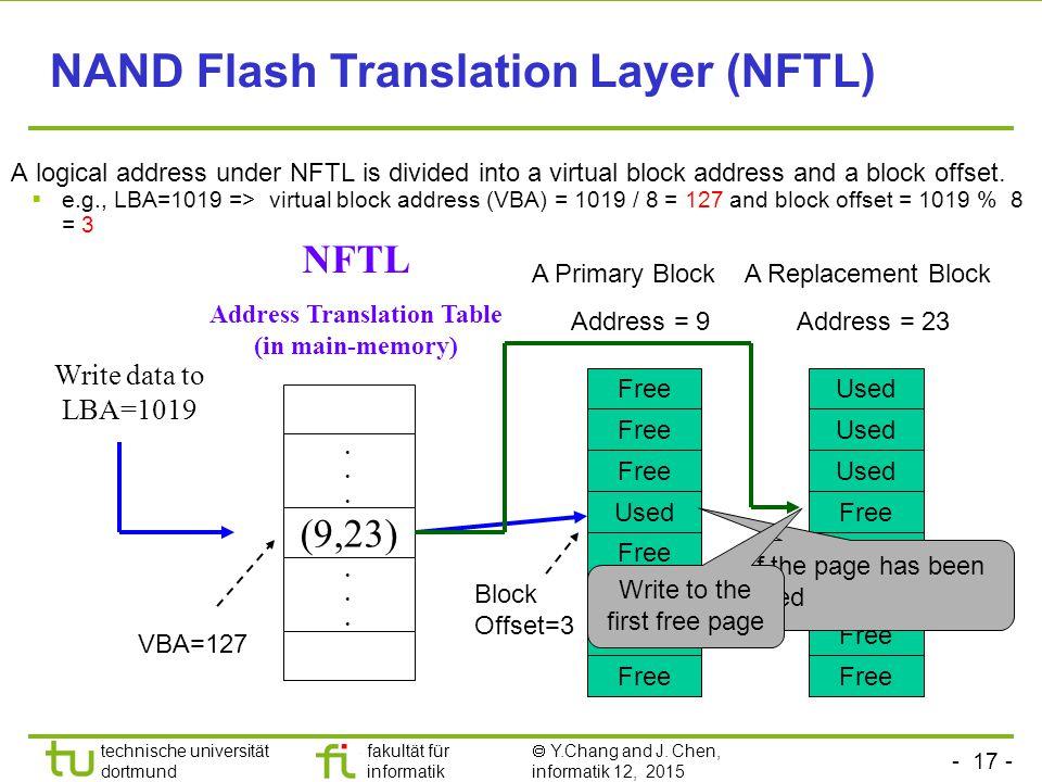Address Translation Table (in main-memory)
