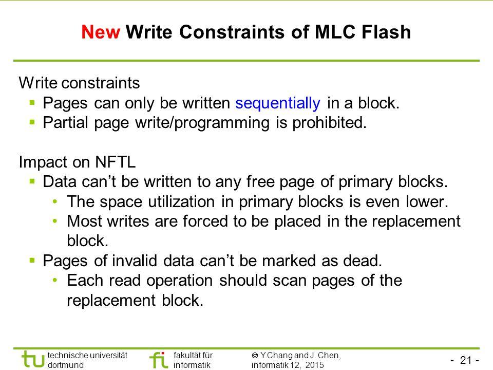 New Write Constraints of MLC Flash