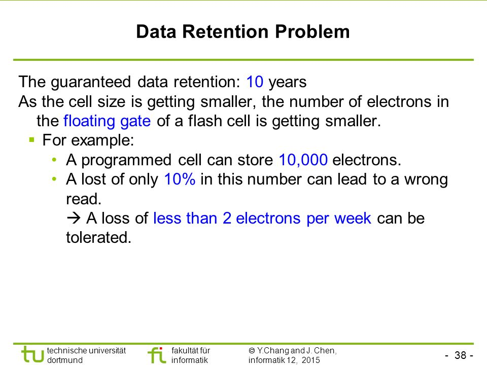 Data Retention Problem