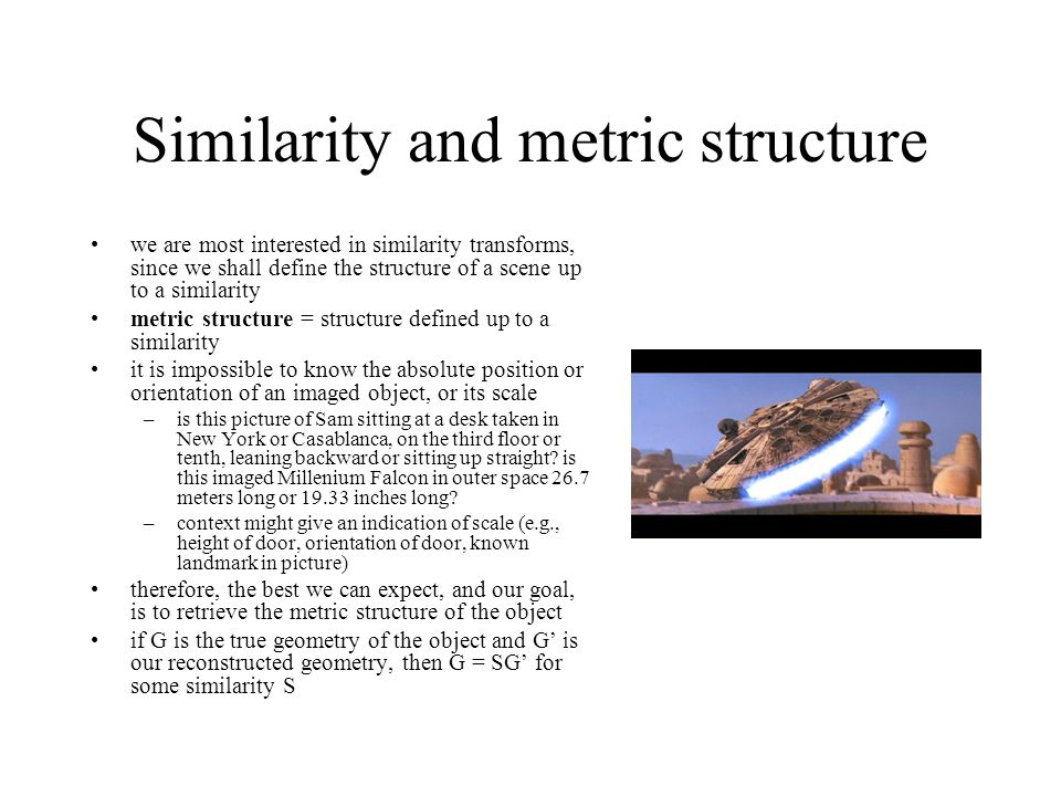 Similarity and metric structure