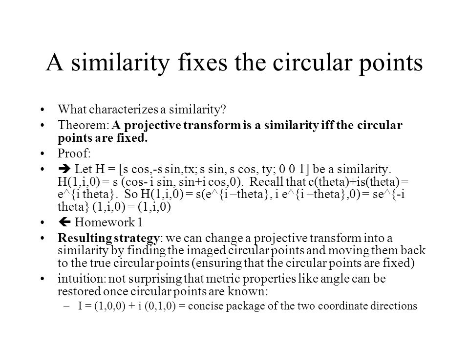 A similarity fixes the circular points