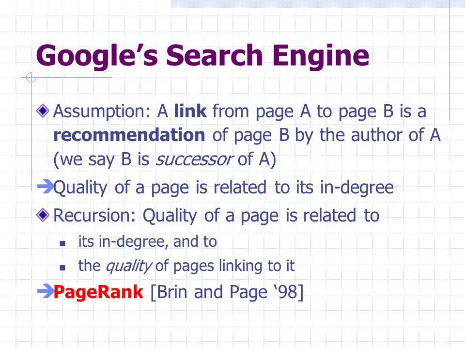 Google's Search Engine