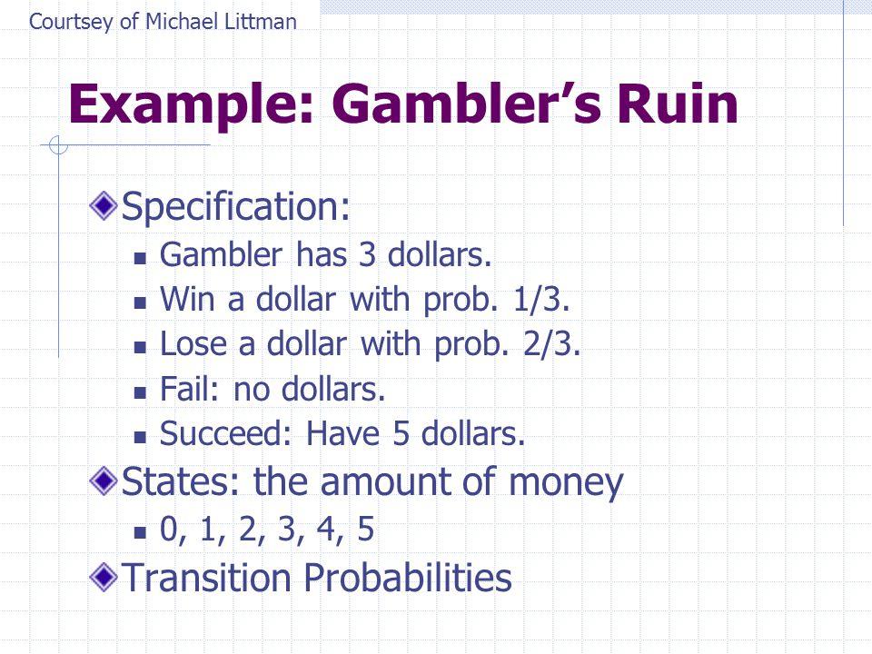 Example: Gambler's Ruin