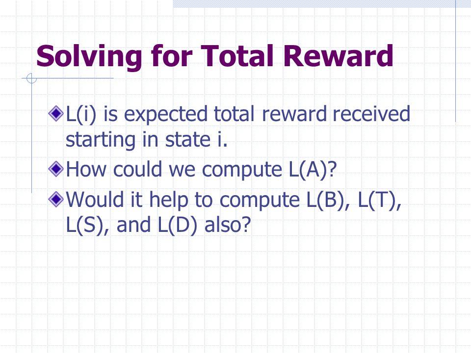 Solving for Total Reward