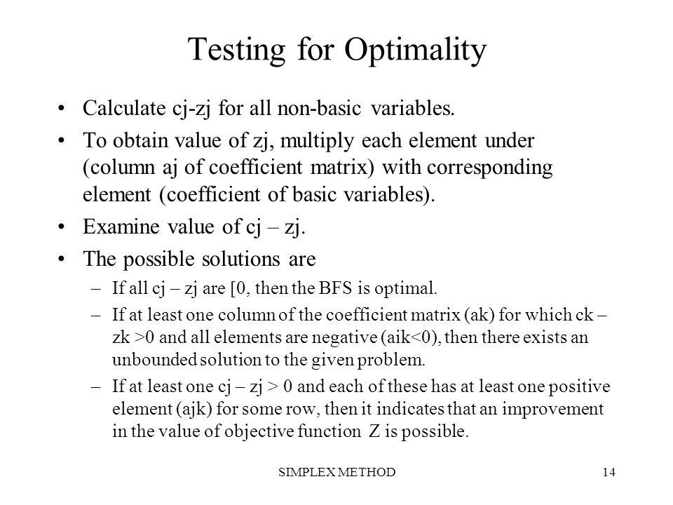 Testing for Optimality
