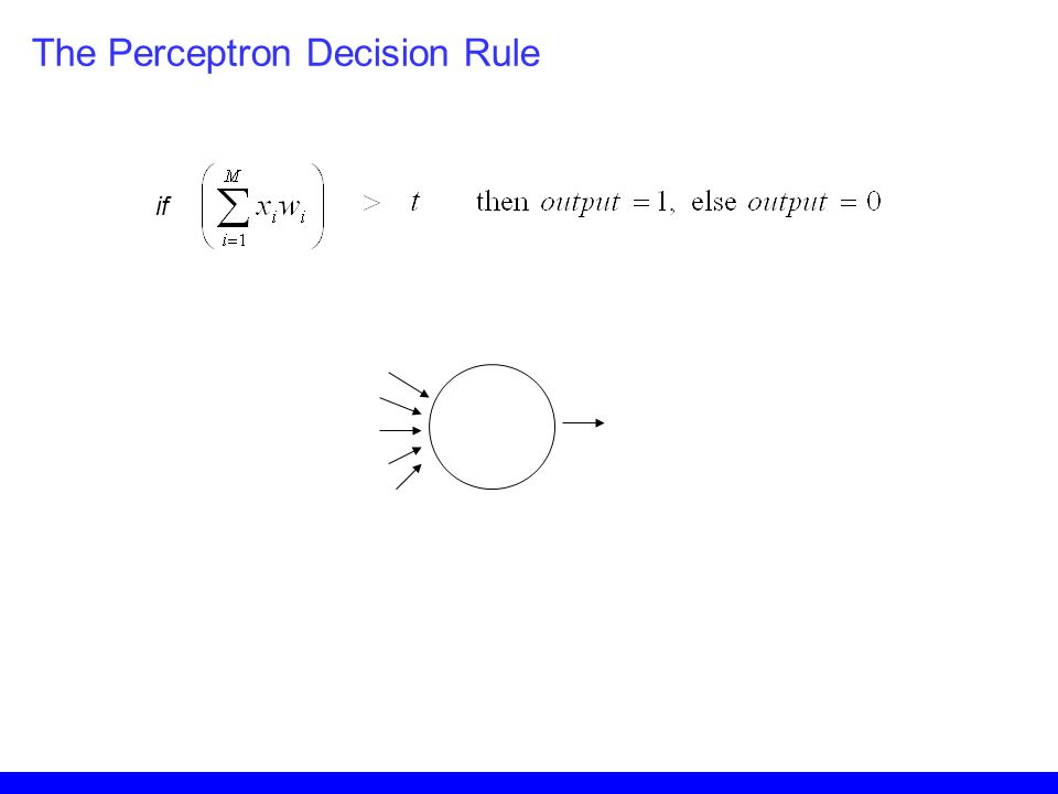 The Perceptron Decision Rule