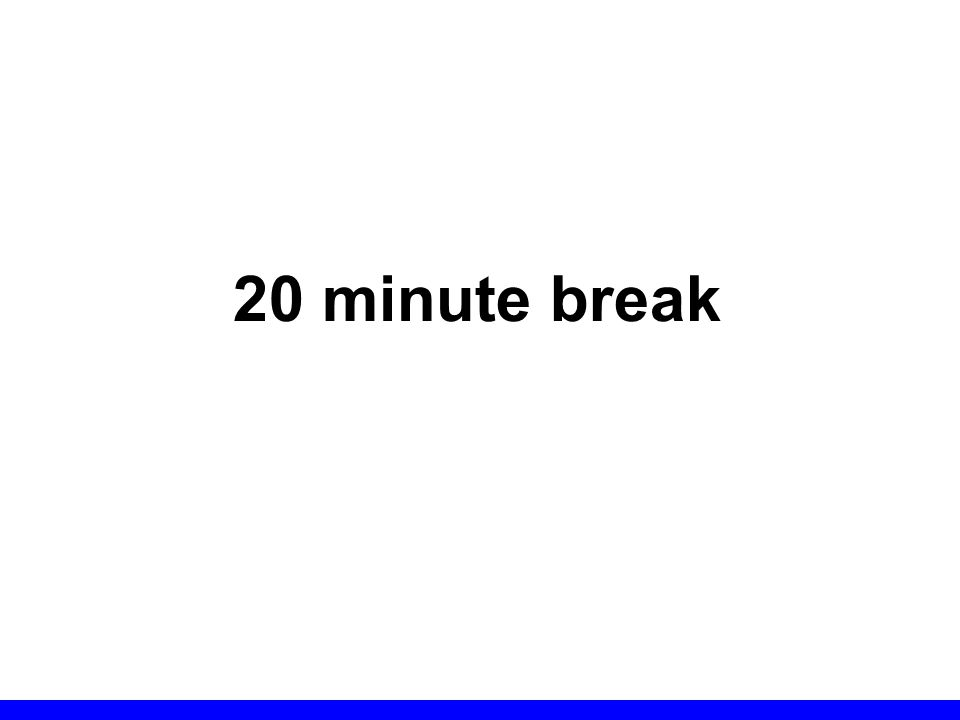 20 minute break