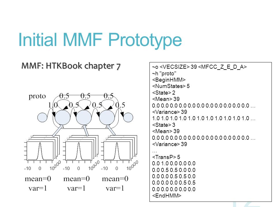 Initial MMF Prototype MMF: HTKBook chapter 7