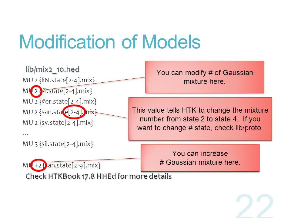 Modification of Models