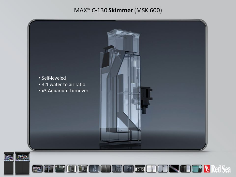 MAX® C-130 Skimmer (MSK 600) Self-leveled 3:1 water to air ratio