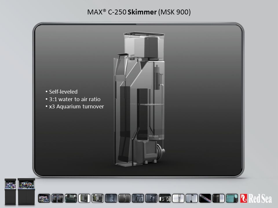 MAX® C-250 Skimmer (MSK 900) Self-leveled 3:1 water to air ratio