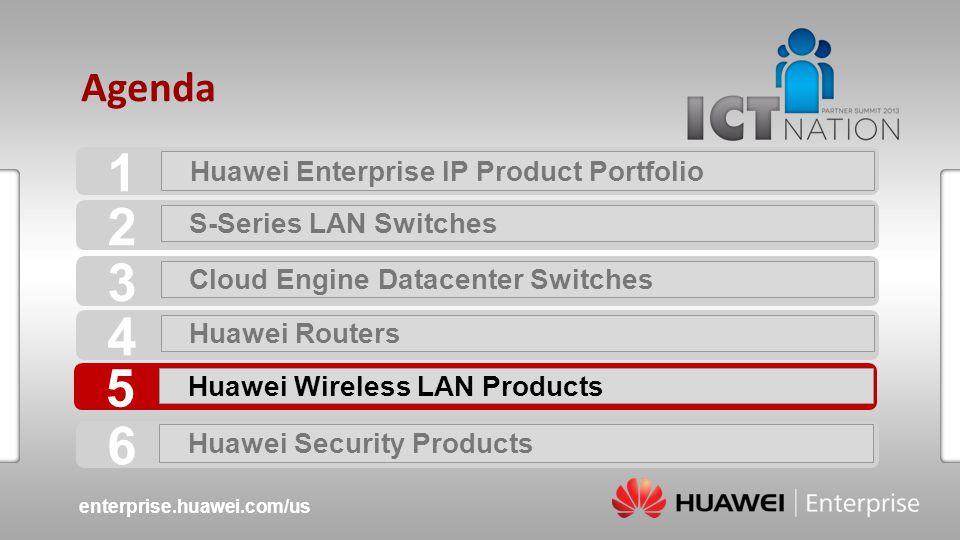 1 2 3 4 5 6 Agenda Huawei Enterprise IP Product Portfolio
