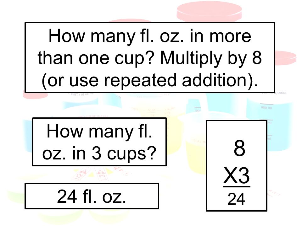 How many fl. oz. in more than one cup