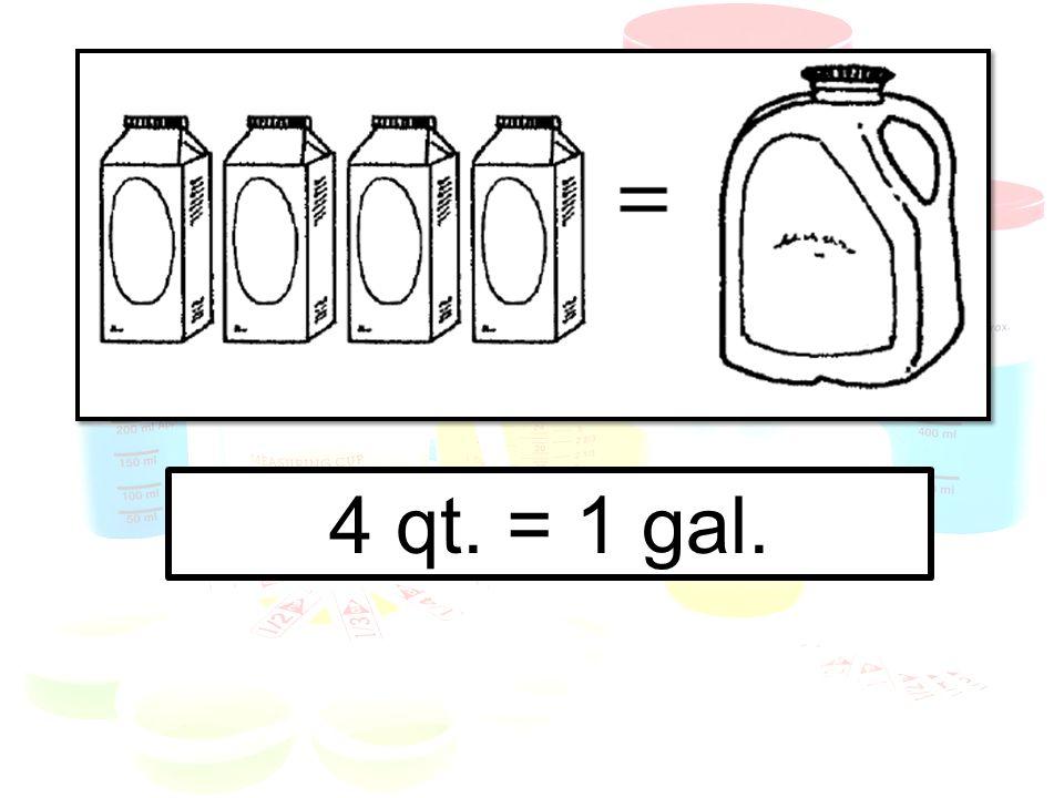 4 qt. = 1 gal.