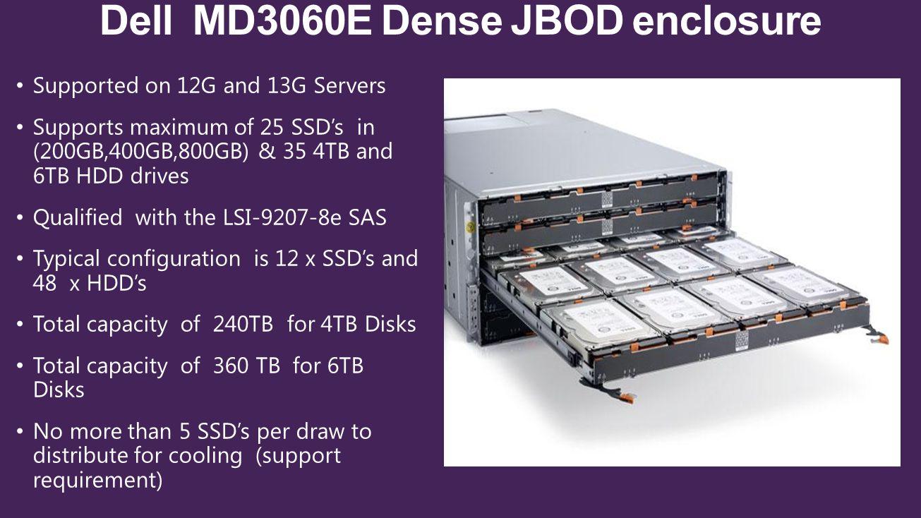 Dell MD3060E Dense JBOD enclosure