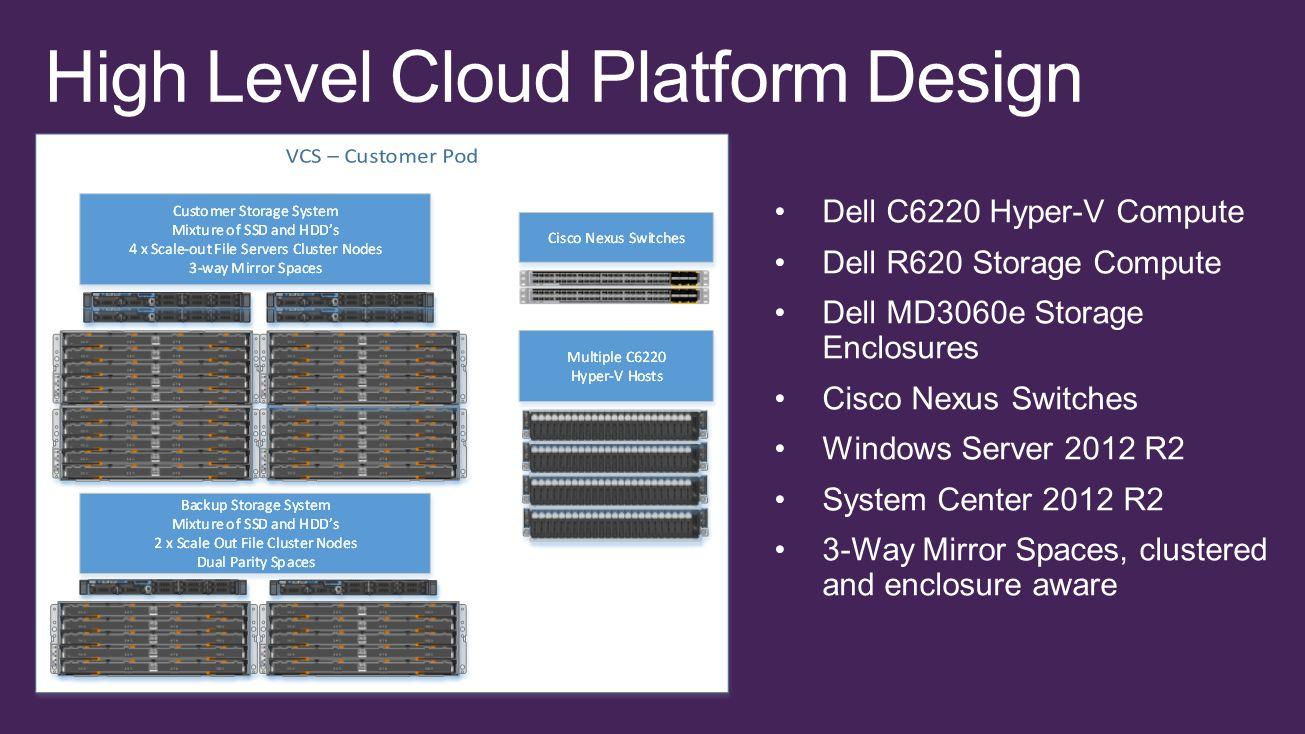 High Level Cloud Platform Design