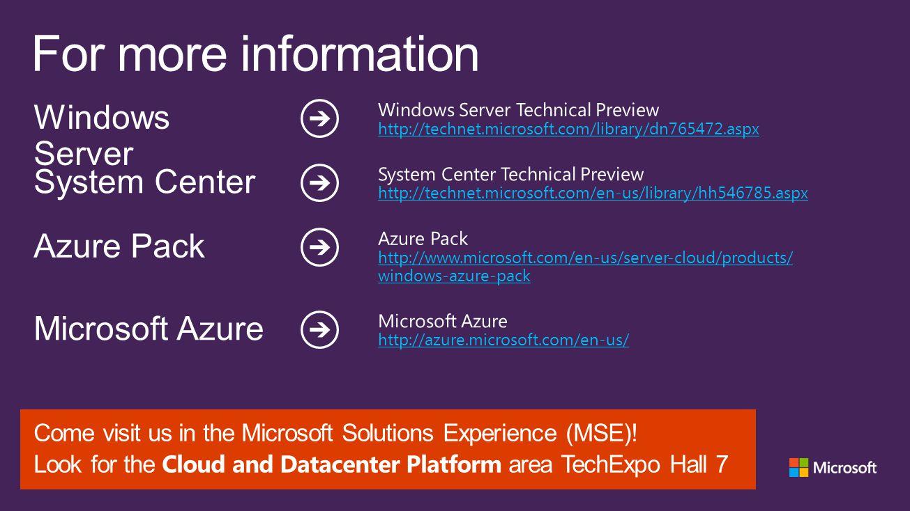 For more information Windows Server System Center Azure Pack