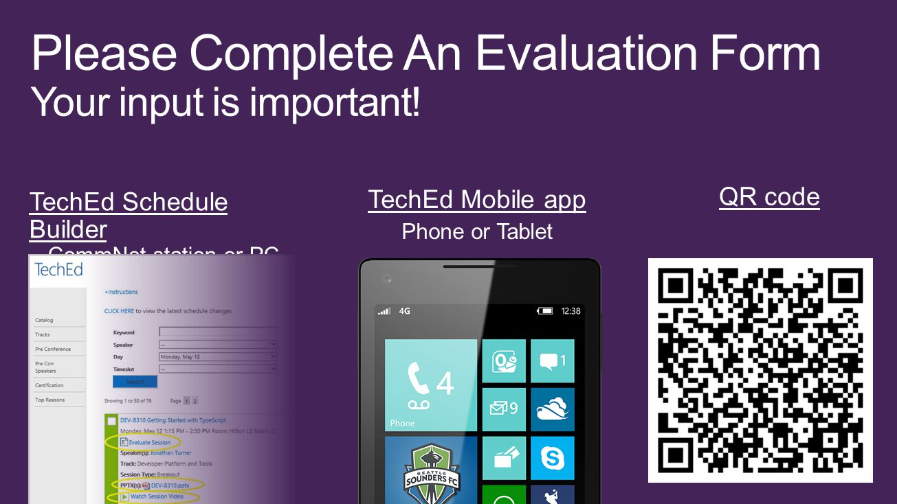 Please Complete An Evaluation Form Your input is important!