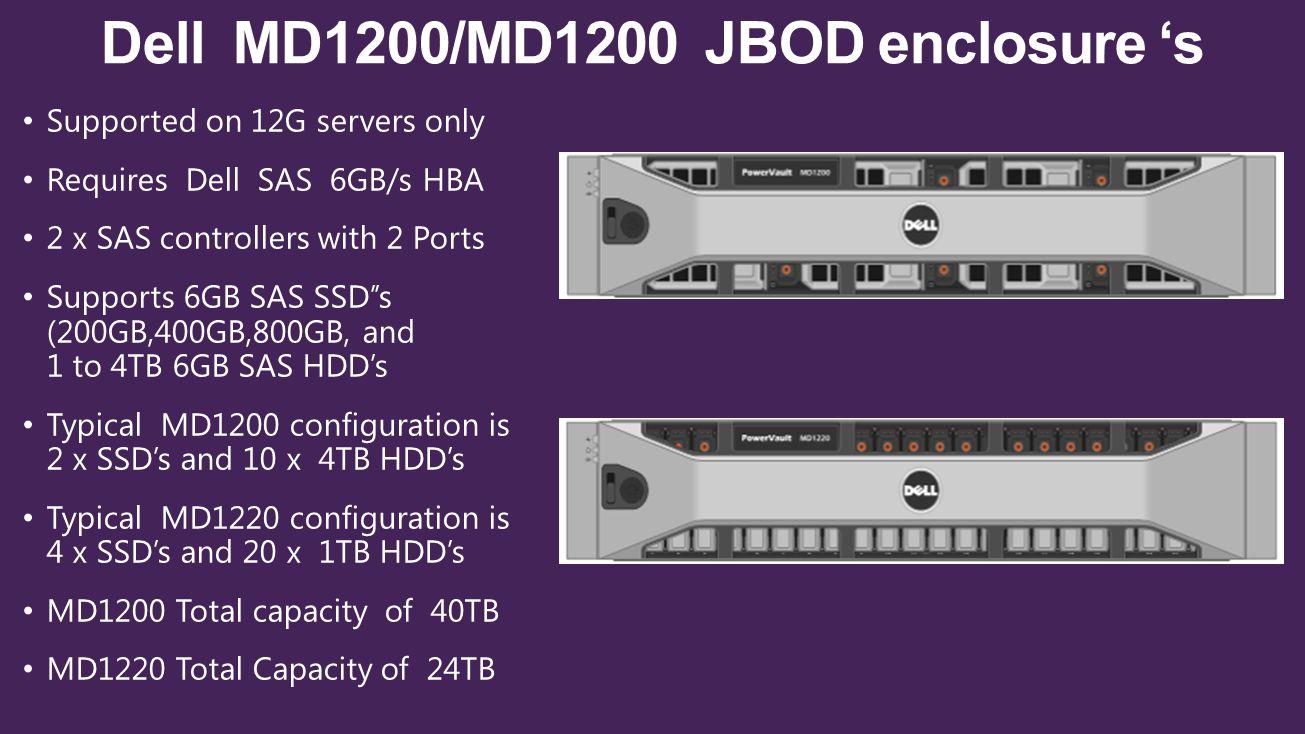 Dell MD1200/MD1200 JBOD enclosure 's