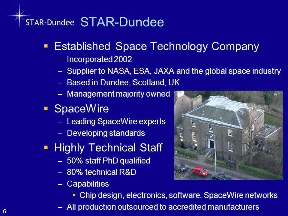 STAR-Dundee Established Space Technology Company SpaceWire