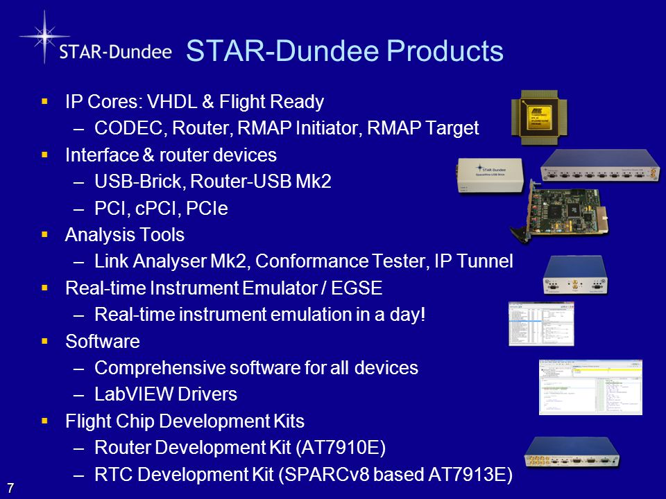 STAR-Dundee Products IP Cores: VHDL & Flight Ready