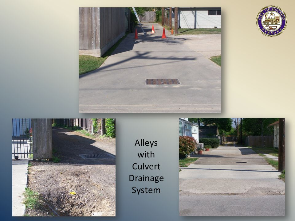 Alleys with Culvert Drainage System