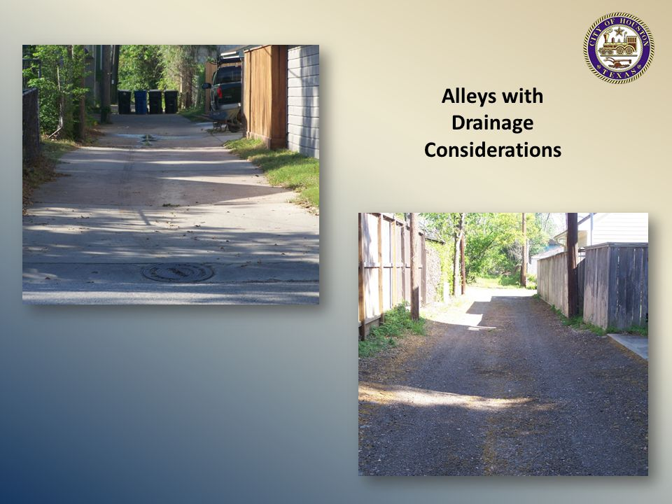 Alleys with Drainage Considerations