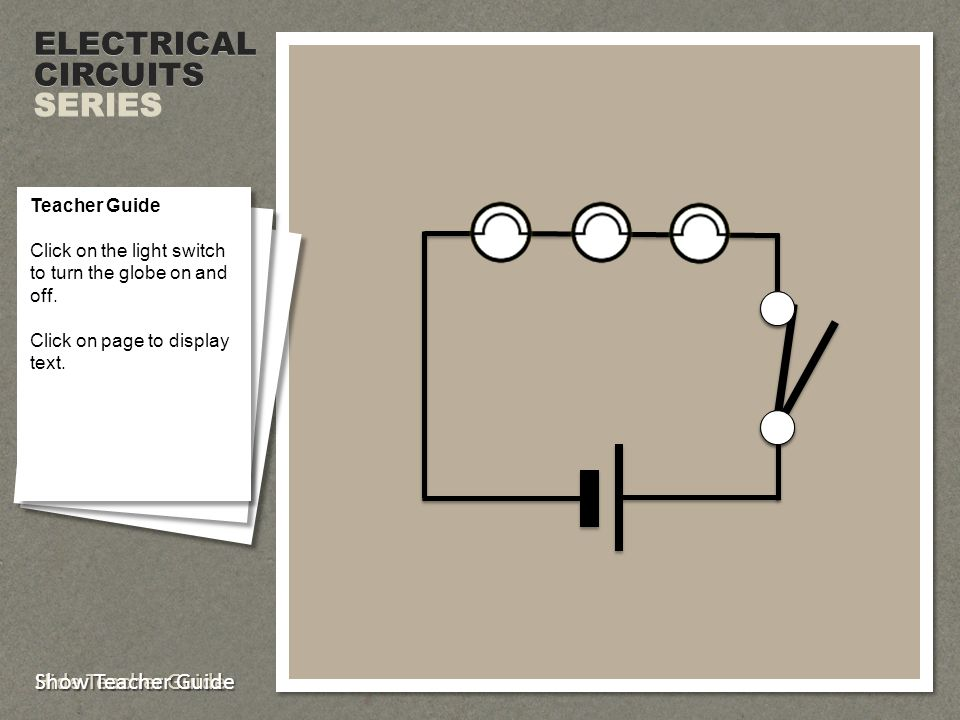 ELECTRICALCIRCUITS SERIES