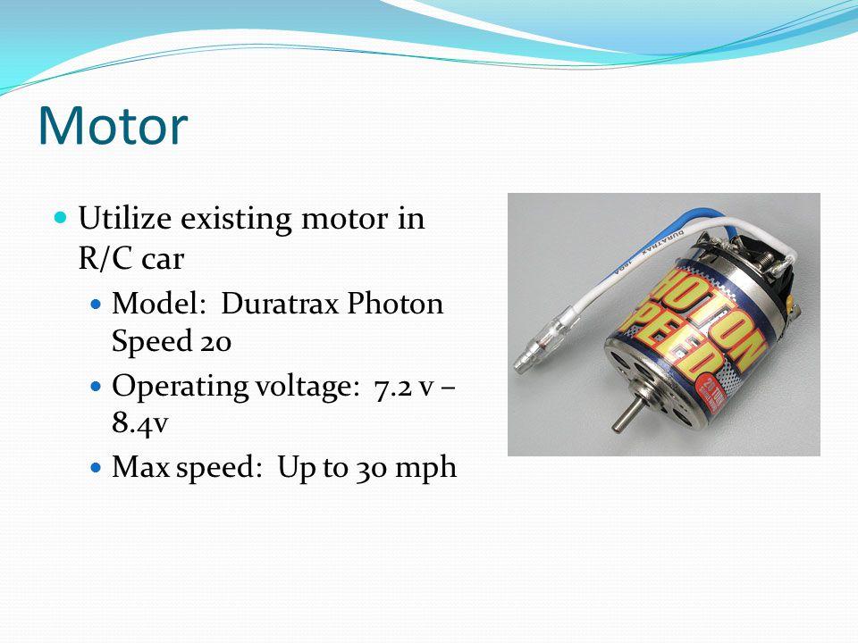 Motor Utilize existing motor in R/C car