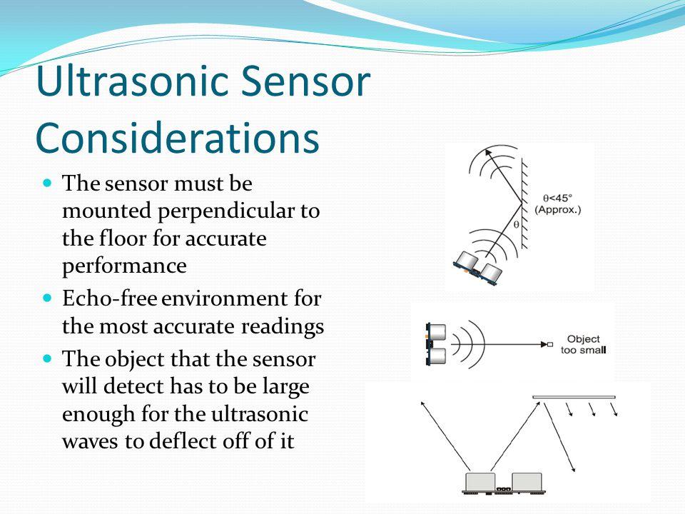 Ultrasonic Sensor Considerations