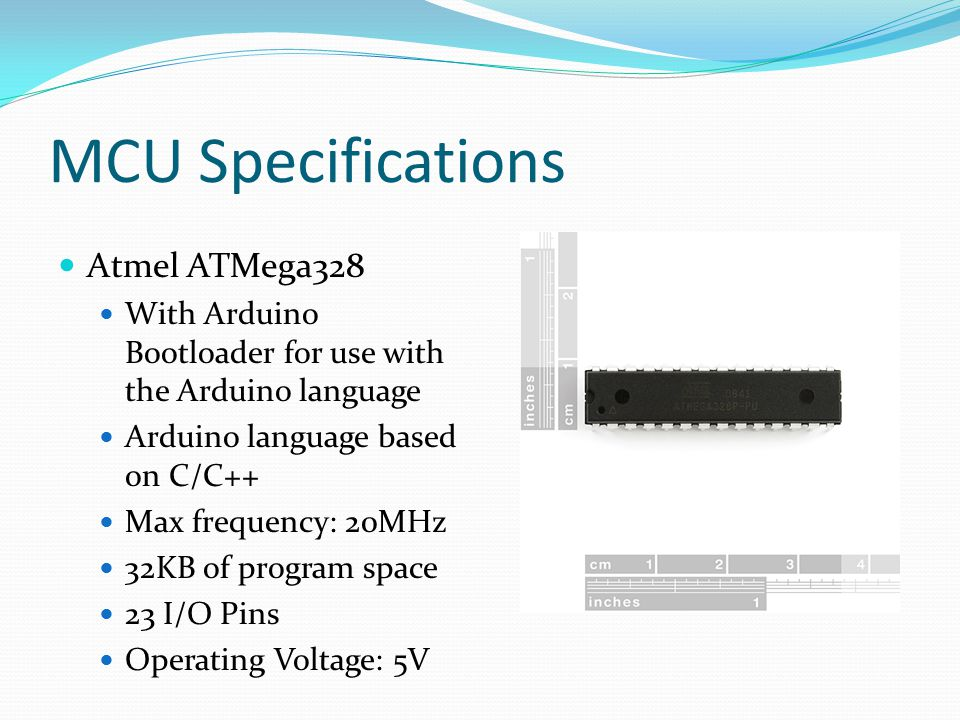MCU Specifications Atmel ATMega328
