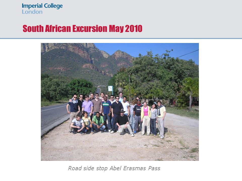 South African Excursion May 2010