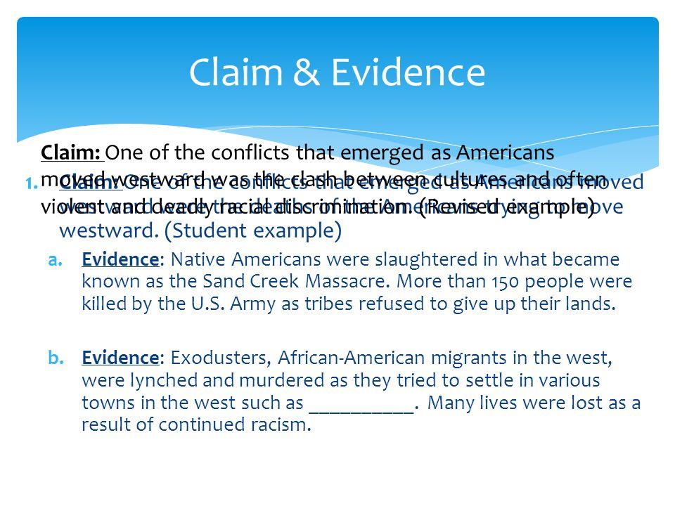 Claim & Evidence