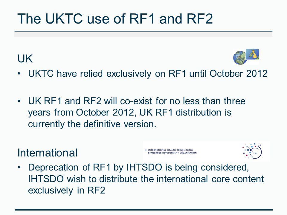 The UKTC use of RF1 and RF2 UK International