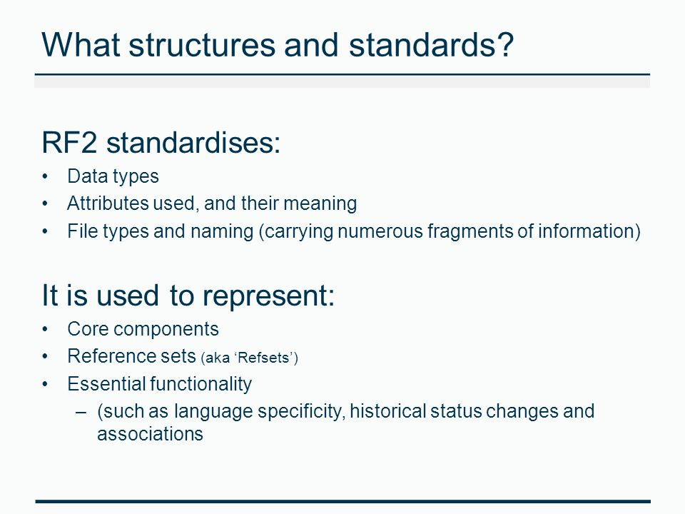 What structures and standards